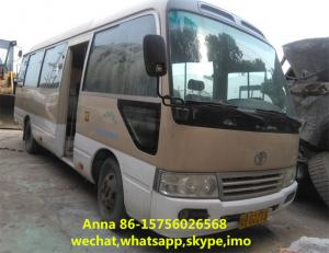 China 29 Seats Used Coaster Bus Toyota Mini Coaster Bus Left Hand Driving on sale
