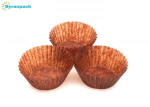 China Translucent Brown Greaseproof Cupcake Liners , 40gsm Greaseproof Cupcake Papers on sale