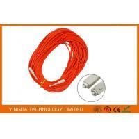 LSZH Fiber Optic Patch Cord SC - SC With Simplex Beige Housing Orange / Corning Fiber Cable