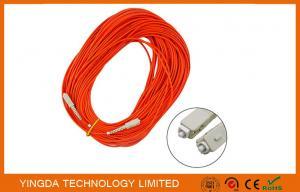China LSZH Fiber Optic Patch Cord SC - SC With Simplex Beige Housing Orange / Corning Fiber Cable on sale
