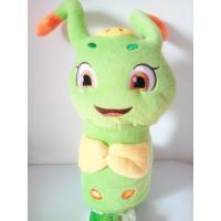 China Plush Caterpillar Stuffed Toy Insect Green Toy Holiday Gift Present 35cm Hanging Toy Present PP Cotton INSIDE Present on sale