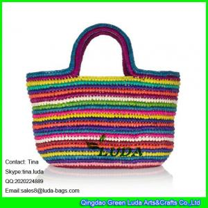 9ec9a3b47f Quality LUDA 2014 trendy straw crochet soulder bags colorful ladies string  beach bag for sale