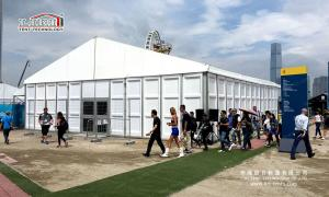 China 500sqm Aluminum Frame Outdoor Event Tents With Glass ABS Walls Self - cleaning on sale