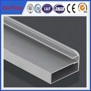 Quality holes drilling anodized shiny machined polish shower door frame parts aluminum profile for sale