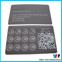 Matte Coated Paper Custom Card Printing , Spot UV Business Card Printing