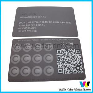 China Matte Coated Paper Custom Card Printing , Spot UV Business Card Printing on sale