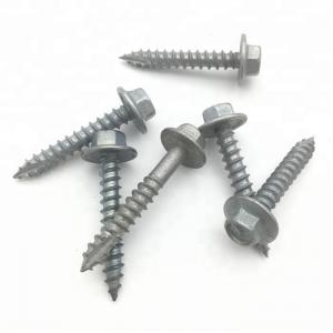 China Galvanized Stainless Steel Timber Screws , Timber Cladding Screws For Hardness Wood T17 on sale