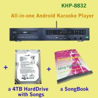 21440 Vietnamese HD songs include 4TB HDD +All-in-one Android hdmi jukebox karaoke system with songs , Insert Coin