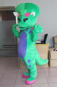 China Funny baby bop dinosaur cartoon character mascot costumes for adults on sale
