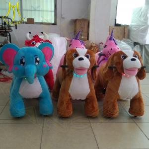 China Hansel plush walking horse toy zoo kids coin operated animal scooter on sale