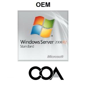 China Microsoft Windows Server 2008 R2 Standard 1-5 Client OEM  COA Sticker on sale