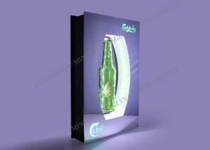 China Acrylic Plastic Floating Beverage Bottle Display , Top System Levitating Display on sale