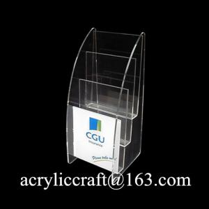 China Desktop Acrylic Leaflet Holder, Hot Selling Plexiglass Brochure Stand on sale