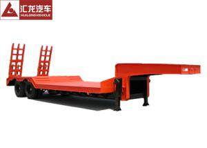 China Anti - Shock Tyre Heavy Duty Trailer Concave Low Bed Trailer  Dual Line Brake System on sale