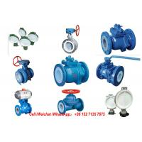 PE Lined Steel  Ball valve Butterfly valve check valve Fluorine stop valve Fluorine lined pipe fittings Fluorine