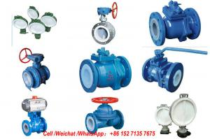 China PE Lined Steel  Ball valve Butterfly valve check valve Fluorine stop valve Fluorine lined pipe fittings Fluorine on sale