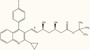 China CAS 586966 54 3 Pitavastatin Intermediates tert-butyl Pitavastatin 99.0% min cGMP on sale