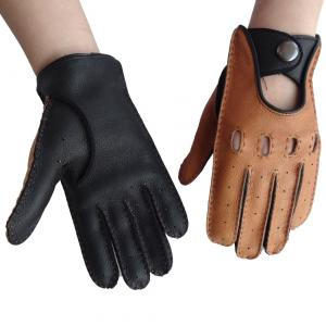 China Customized Leather Driving Gloves Female / Male Deerskin Without Lining on sale