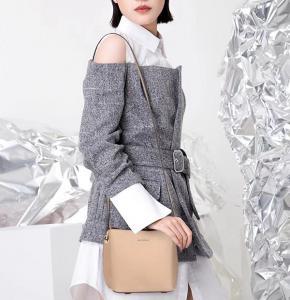 China 2018 fashion designed original manufacturer high quality lady leather shoulder bag on sale