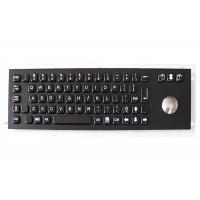 IP67 Customizable Panel Mounted Keyboard , Metal Keyboard With Trackball USB / PS2 Interface