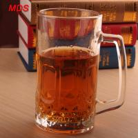 Factory direct large glass engraved beer mug cheap with handle