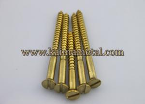 China Brass flat slotted head wood screws on sale
