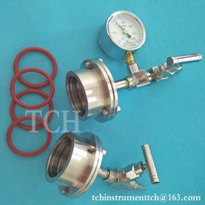 China SS quartz alumina tubes flange for 50mm OD tube vacuum furnace, tube furnace flange on sale