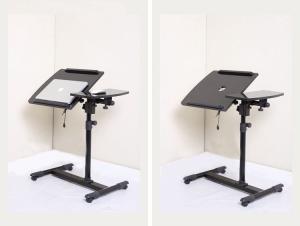15mm PB / MDF Melamine Height Adjustable Laptop Desk With Wheels Modern  DX BJ4