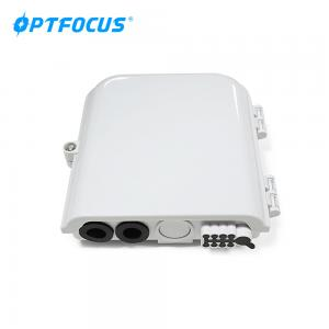 China FTTx network point distribution box 8 cores 3 in 8 out fiber optic terminal box on sale