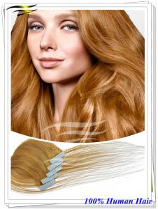 China The finest European Quality 100% european Virgin Remy Seamless Tape Extensions on sale