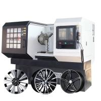 China Car Alloy Wheel Rim Repair CNC Lathe Machine railway wheel turning lathe on sale