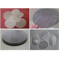 Wire Mesh Filter Disc And Packs , Stainless Steel Nickel Material Discs Filters