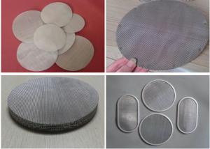 China Wire Mesh Filter Disc And Packs , Stainless Steel Nickel Material Discs Filters on sale