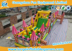 China Extreme Large Inflatable Games , Dinosaur Inflatable Fun Land With Full Digital Printing on sale