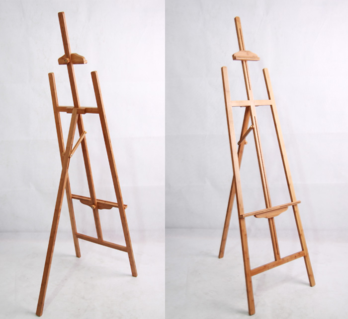 tripod easel stand beech or elm wood easel canvas on easel for