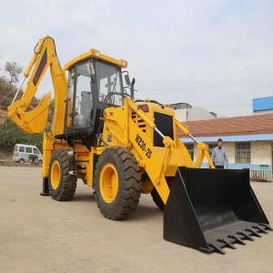 China 4x4 2.5t Earthmoving Compact Backhoe Loader SAM WZ30-25 with 1.2m3 bucket on sale