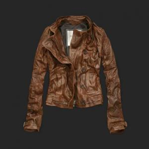 China Abercrombie A&F Womens leather jackets on sale