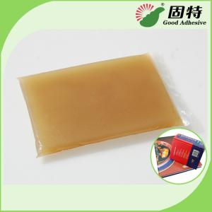 China Amber Color Block Bookbinding Hot Melt Glue For Book-Facing , Cloth-Bound Edition on sale