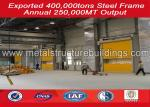 ISO certification custom prefabricated warehouse buildings steel frame