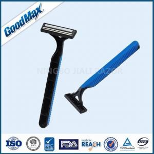 China Sensitive Skin Good Max Razor Twin Blade Disposable Razor With Non - Slip Handle on sale