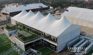 China Luxury double decker tent with high peaks for grand events and ceremony on sale