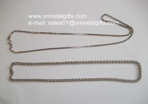 China Wholesale stainless steel cable link chain necklace for women fashion on sale