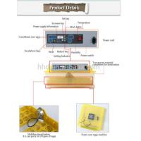 YZ8-48 Hot Sale Full Automatic CE Approved Mini 48 Chicken Egg Incubator Price With 98% Hatching Rate