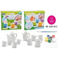 DIY Tea Set Ceramic Painting Kit Children