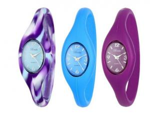 China Custom Silicone Wristband Watch For Women , Silicone Digital Watch on sale