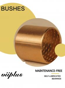 China Multi-lubrication friction bearing in rolled CuSn8 bronze Sliding bush for Hydraulics on sale