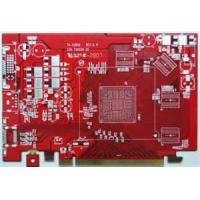 Red Immersion Lead free HASL Silver Rigid double - sided printed board Pcb