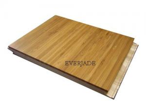 China Carbonized Vertical Engineered Bamboo Floors low formaldehyde emission E1 standard on sale