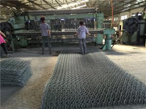 China PE / PVC Coated Gabion Box Double Twist Welded Gabion Baskets For Road Protection on sale
