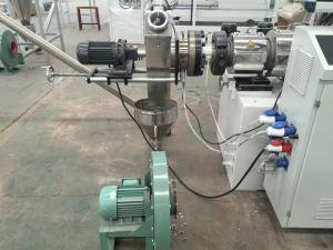 China Double Screw Extuder Plastic Recycling Pellet Machine For Rigid PVC Pipe Profiles on sale
